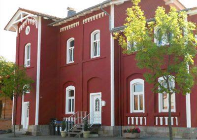 Fassade in rot